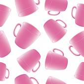 Cups, mugs. Seamless pattern. — Stock Vector