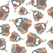 Penguins seamless pattern. — Stock Vector