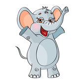 Cheerful Elephant — Stock Vector