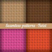 Set of  Weaving, basket — Stock Vector