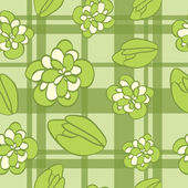 Seamless pattern with flowers and buds — Stock Vector