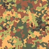Camouflage seamless pattern. Woodland style — Stock Vector