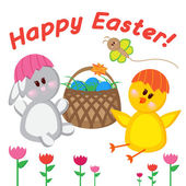 Greeting card. Happy easter. — 图库矢量图片