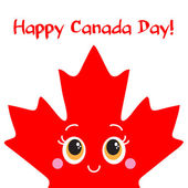 Happy Canada Day card. Vector. — Vetorial Stock