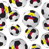 футболы. спортивный фон — Cтоковый вектор