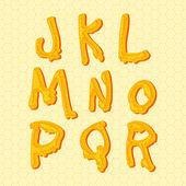 Honey alphabet. — Stock Vector