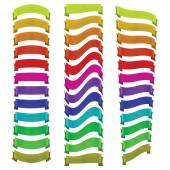 Set of ribbons of different colors — Stock Vector