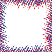 USA flag with scratched frame. — Vetorial Stock