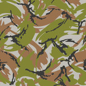 Camouflage seamless pattern. Woodland style — Vector de stock