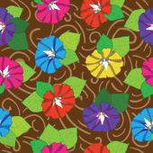 Flowers seamless summer background — Stock Vector