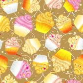 Cupcakes kitchen backgrounds — Vettoriale Stock