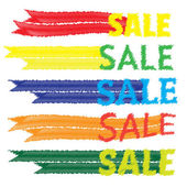 Sale tags. Banners vector set. Shopping. — Stock Vector