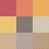 Brick wall seamless patterns — Stock Vector