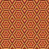 Mosaik former av hexagoner — Stockvektor