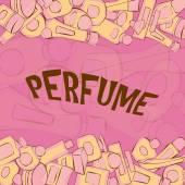 Seamless pattern of perfume bottles — Stock Vector