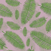Palm leaves seamless background — Stock Vector