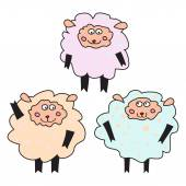 Set of fun sheeps — Stock Vector