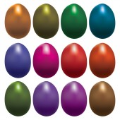 Set of colorful Easter eggs — Stock Vector