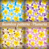 Plumeria. Set — ストックベクタ