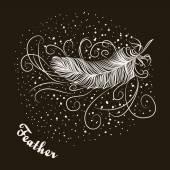 Bird feather — Stock Vector