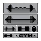 Gym Fitness icons — Stock Vector