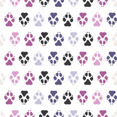 Traces dogs seamless pattern. — Stock Vector
