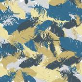 Abstract pattern with feathers. — Vecteur