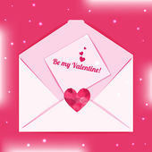 Be my Valentine Envelope — Vettoriale Stock
