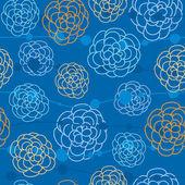 花とのシームレスなテクスチャ — ストックベクタ