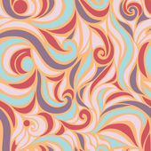 Wave seamless hand drawn pattern — Stock Vector