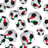 Voetbal patroon. — Stockvector