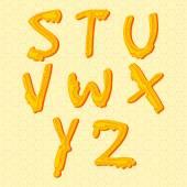 Honung alfabetet. — Stockvektor