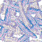 Feathers  seamless pattern. — Stock Vector
