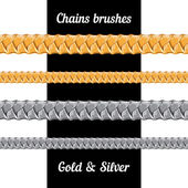 Set of chains metal brushes . — Stock vektor
