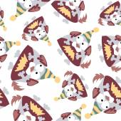 Dogs seamless pattern. — Stock Vector