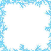 Frame of frost patterns — Stock Vector