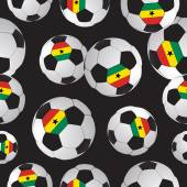 Footballs.  Sports background. — Stock Vector