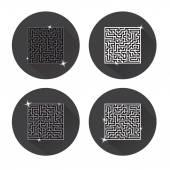 Maze. Icons. Vector. — Stock Vector