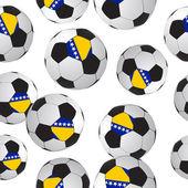 Footballs seamless pattern. — Stock Vector