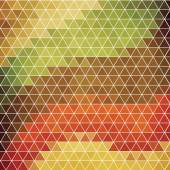 Hexagons in retro style. — Stock Vector