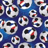 Footballs. Soccer pattern. — Stock Vector