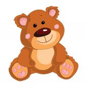Brown teddy bear — Stock Vector
