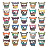 Colorful owls Vector set on white background — Vector de stock