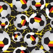 Footballs pattern. — Stock Vector