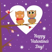 Greeting card for Valentine's day. Vector illustration. — Stock Vector