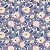 Rabbits seamless background — Stock Vector