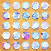 Set pearl precious stones round — Vector de stock
