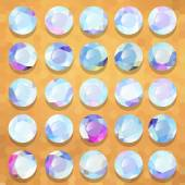 Conjunto pedras preciosas pérolas redondas — Vetorial Stock