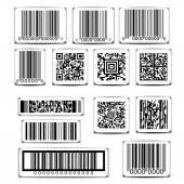 Barcode label set vector — Stock Vector