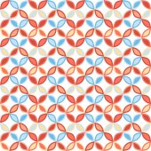 Seamless bright geometric circle pattern. — Stockvektor